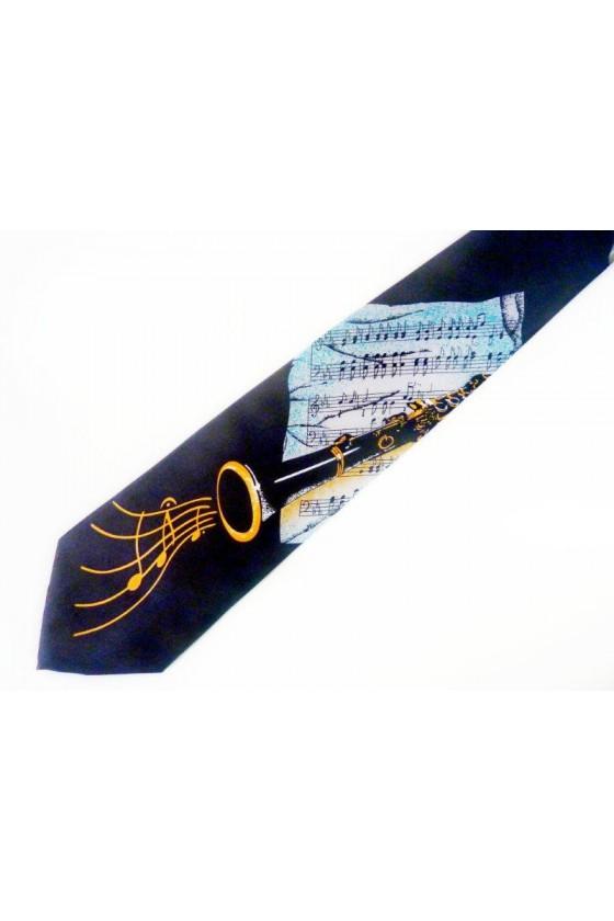 Cravate motif clarinette